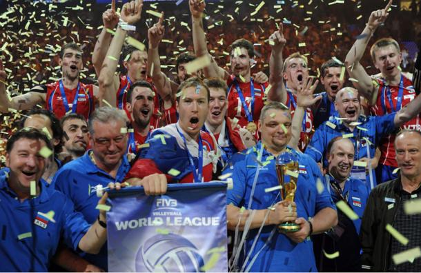 Российские волейболисты одержали победу в финале Мировой лиги