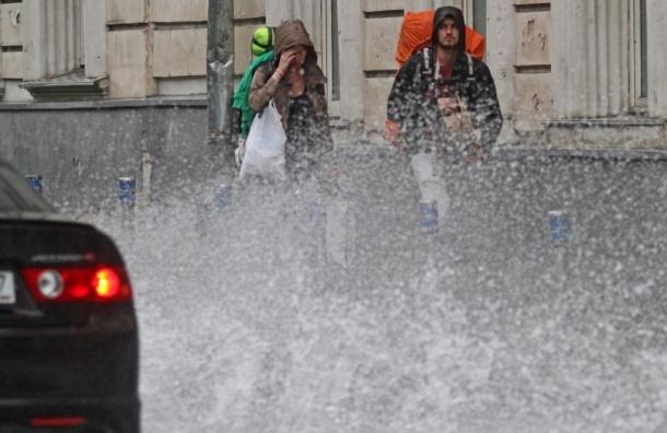 Cтолицу и область ожидают ливень, сильный ветер, гроза и град