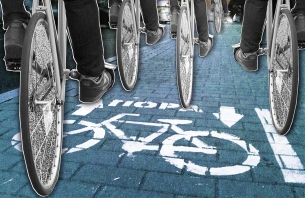 В Петербурге появилась первая партизанская велодорожка