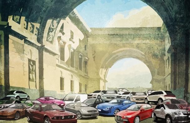 Почему в Петербурге чиновники закрывают глаза на парковку на тротуарах