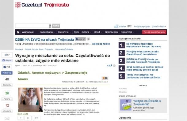 Поляки сдают девушкам жилье за секс