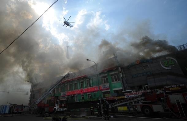 Пожар в московском ТЦ возле станции метро