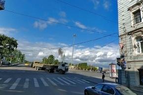 На Петроградке столкнулись две иномарки, пятеро пострадавших