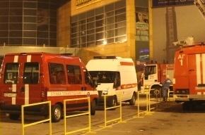 В Петербурге потушили крупный пожар в гипермаркете О'Кей на Савушкина