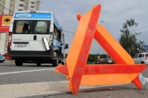 Под Петербургом маршрутка угодила в аварию, есть пострадавшие