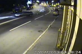 Видео с гонщиком на Alfa Romeo, разбившимся на Петроградке, выложили в Сеть
