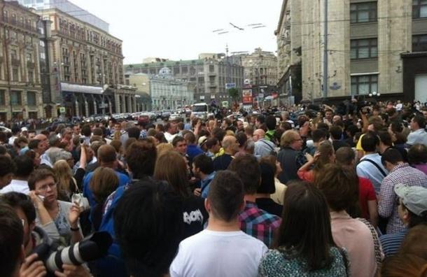 На Манежной площади задержаны участники митинга в поддержку Алексея Навального