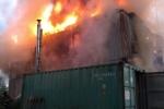 Фоторепортаж: «Пожар на Выборгском шоссе 1 августа»