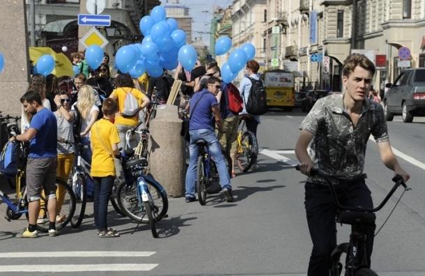 В Петербурге прошла акция в защиту прав велосипедистов