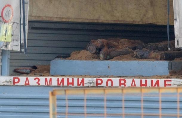 На Большой Дмитровке в котловане обнаружен снаряд времен войны. Движение перекрыто