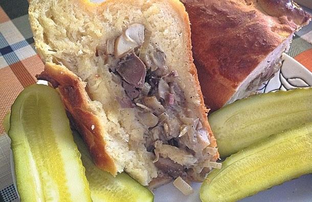 Пышный пирог сбелыми грибами икуриной печенкой. Рецепт от Светланы Морозовой
