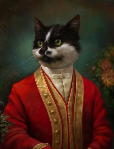 Коты Эрмитажа в ливреях: Фото