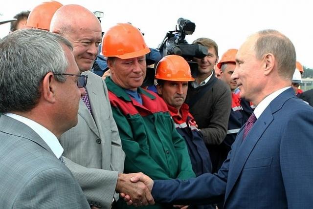 Владимир Путин открыл северный участок ЗСД : Фото