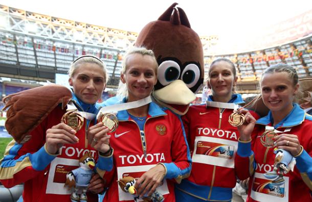 Россия вышла в лидеры медального зачета ЧМ по легкой атлетике