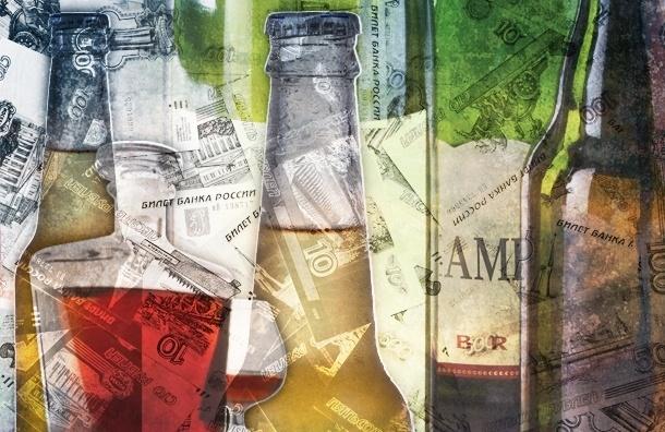 Инфографика: рост цен на алкоголь в Петербурге