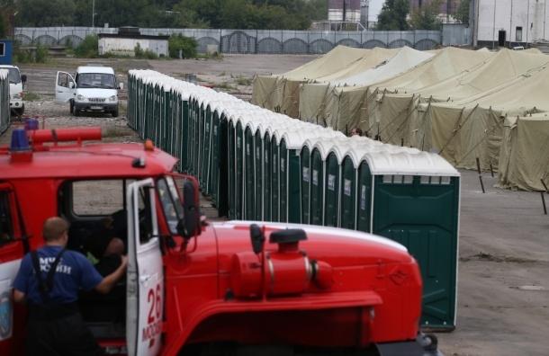 Палаточный лагерь для нелегальных мигрантов развернули на востоке Москвы