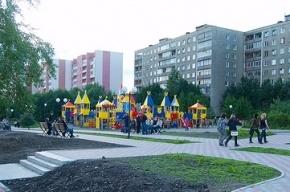 Петербуржцы протестуют против строительства магазина на детской площадке