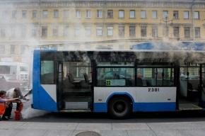 На Невском проспекте горел троллейбус