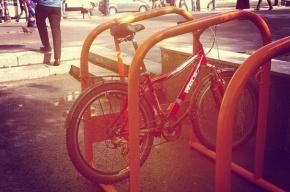 Велопарковки «европейского типа» появились в Выборгском районе