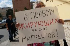 В Петербурге прошел пикет в защиту мигрантов