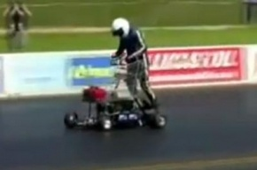 Британец разогнался на тележке из супермаркета до 113 км в час