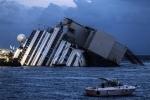 Затонувший лайнер Costa Concordia: Фоторепортаж