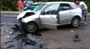 На Пулковском шоссе иномарка сбила женщину-пешехода: Фоторепортаж