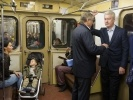 Сергей Собянин приехал на работу на метро: Фоторепортаж