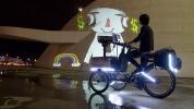 Animados & bicicletas, бразильские велосипедисты в Петербурге покажут кино на стенах домов: Фоторепортаж