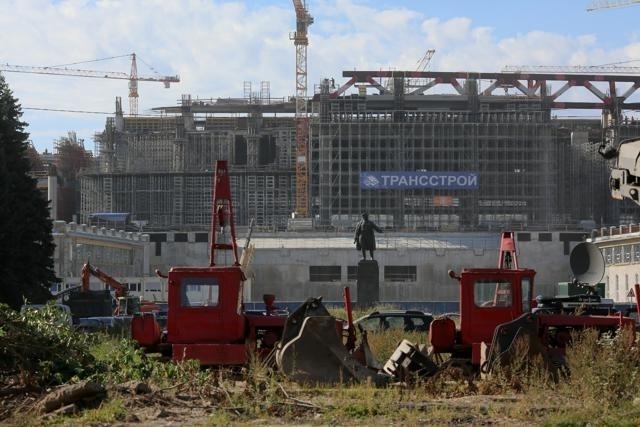 Строительство стадиона на Крестовском острове: Фото