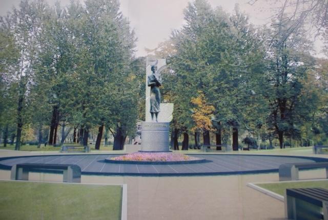 Памятник Олге Берггольц, проект: Фото