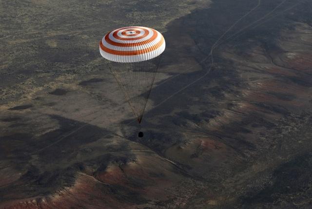 Возвращение космонавтов с МКС: Фото