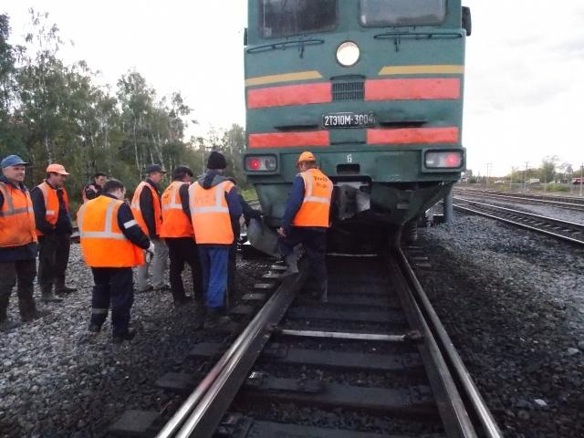 В Татарстане петербургский поезд столкнулся с легковым автомобилем: Фото