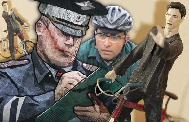 В Петербурге велосипедистов начали штрафовать за нарушения ПДД