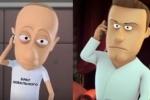 Путин и Навальный поменялись телами в мультфильме