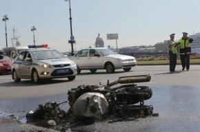 В Петербурге водитель Peugeot сбил мотоциклиста