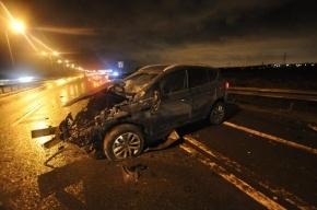 Пьяный полицейский на Lexus врезался в пост ДПС в Махачкале