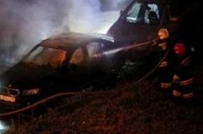 На Наличной улице ночью сгорел BMW
