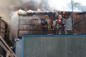 На Орловской улице в центре Петербурга загорелись бытовки