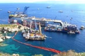 Подъем затонувшего лайнера «Коста Конкордия» транслируют онлайн