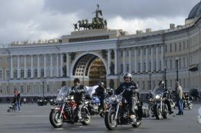Байкеры закрыли мотосезон на Дворцовой