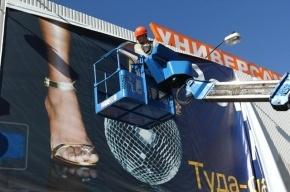 Петербургские депутаты разрешили рекламным щитам стоять 10 лет