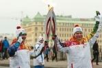 Фоторепортаж: «Петербургский этап эстафеты Олимпийского Огня 27 октября 2013 года Фото Trend »