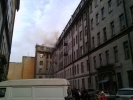 В доме на Таврической улице горит мансарда: Фоторепортаж