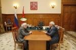 Полтавченко и Джигарханян: Фоторепортаж