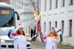 Фоторепортаж: «эстафета олимпийского огня по России»