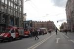 Фоторепортаж: «Пожар на станции метро «Петроградская»»