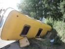 Фоторепортаж: «В Ленобласти перевернулась маршрутка, три человека пострадали»