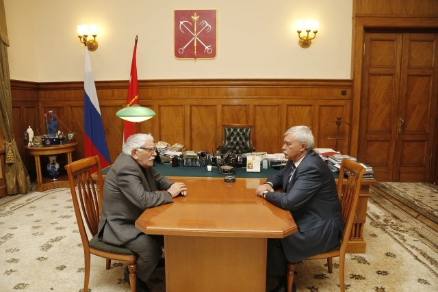 Полтавченко и Джигарханян: Фото
