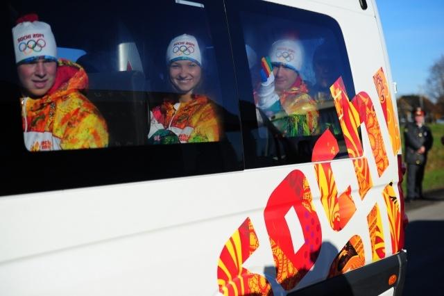 эстафета олимпийского огня по России: Фото